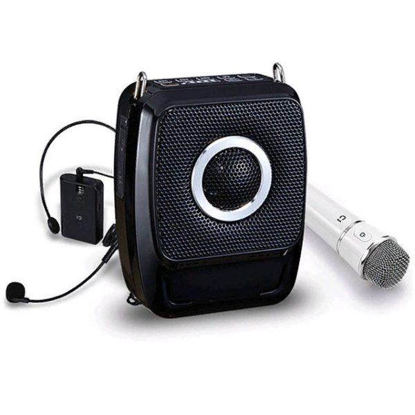 Усилитель голоса с беспроводным головным и ручным микрофоном GID-92 35W
